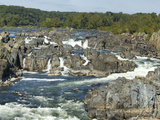 Panoramic of Potomac River Rushing Through Rocks at Great Falls Photographic Print by Paul Sutherland