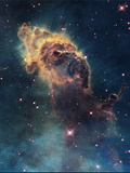 Young Stars Flare in the Carina Nebula Fotografisk tryk