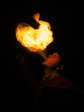High School Student Practices Fire Breathing as Year 12 Project Photographic Print by Brooke Whatnall