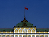 The Soviet Flag Flies over the Kremlin Photographic Print by Kenneth Ginn