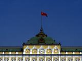 The Soviet Flag Flies over the Kremlin Photographic Print by Kenneth Ginn