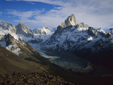 Cerro Torre (Left) and Fitzroy, from Loma Del Pueque Umbado, Los Glaciares Nat'l Park, Argentina Photographic Print by Colin Monteath/Minden Pictures