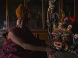 A Monk Prepares for the Black Hat Dance at the Karsha Gustor Festival Photographic Print by Steve Winter