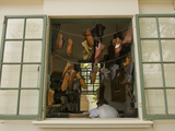 Colonial Shoemaker Works in a Shop with an Open Window Photographic Print by Greg 