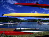 Crew Boats and Teams Along Lake Banyoles Photographic Print by Tino Soriano