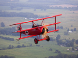 A Replica Fokker Dr. I, a Red Triplane as Flown by the Red Baron Fotografiskt tryck av Pete Ryan