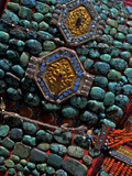 Detail of the Perak, a Turquoise Encrusted Hat Worn My Ladakhi Women Photographic Print by Steve Winter