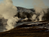 Steam Rising from Upper Geyser Basin Photographic Print by Mark Thiessen