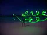 Getting Creative with Long Exposures and Glowsticks Photographic Print by Ben Horton