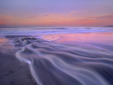 Fresh Water Stream Flowing into the Pacific Ocean, Zuma Beach, Malibu, California Photographic Print by Tim Fitzharris/Minden Pictures