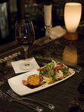 Mixed Green Salad with Fried Goat Cheese at Murphy's Restaurant Photographic Print by Krista Rossow