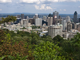 Birds Eye View of Montreal, Canada, from Mount-Royal Park Photographic Print by Stacy Gold