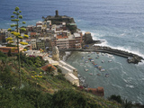 The Village of Vernazaa on Italy's Cinque Terre Photographic Print by Anne Keiser