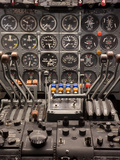 Cockpit and Engine Controls of a Boeing 707 Photographic Print by  Greg