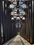 An Old Steel Bridge That Crosses the South Saskatchewan River Fotografiskt tryck av Pete Ryan