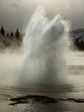 Snowmelt and Rainwater Blast from Sawmill Geyser Photographic Print by Mark Thiessen