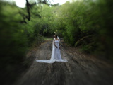 A Bride in an Oak Forest Photographic Print by Raul Touzon