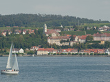Sailboat on Lake of Constance Near Meersburg, Germany Photographic Print by  Greg