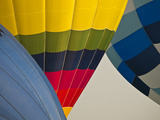 A Close View of Hot Air Balloons Getting Filled Photographic Print by Stacy Gold