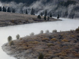 Mist Rises from the Snake River in Grand Teton National Park, Wyoming Photographic Print by Drew Rush