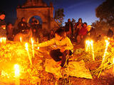 Day of the Dead Celebration in the Town Cemetery Photographic Print by Raul Touzon