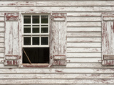 Sash Window Propped Open on a Historic House in Colonial Williamsburg Photographic Print by  Greg