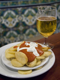 Tapas and Beer at Taberna Coloniales in Plaza Cristo De Burgos Photographic Print by Krista Rossow