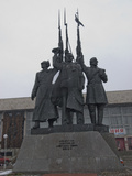 A Statue Commemorates Local Heroes of the Russian Revolution Photographic Print by Gordon Wiltsie