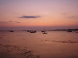 Sailboats Silhouetted at Sunset Photographic Print by Raul Touzon