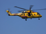 A Search and Rescue Helicopter Hovers Photographic Print by Pete Ryan