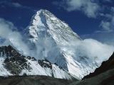 The North Face of K2 from K2 Glacier, 2nd Highest Peak in the World, Karakoram, Xinjiang, China Fotografisk tryk af Colin Monteath/Minden Pictures