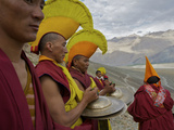 Monks on Day 2 of the Karsha Gustor Festival Photographic Print by Steve Winter