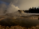 Steam Rising from Castle Geyser in Yellowstone National Park Photographic Print by Mark Thiessen