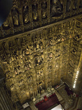 The Altar of the Cathedral of Seville, the Largest Gothic Cathedral Fotografiskt tryck av Krista Rossow
