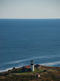 Aerial of the Lighthouse on Seguin Island, Maine Photographic Print by Heather Perry
