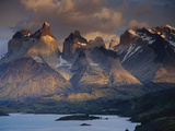 Horns of Paine Mountains, Torres Del Paine National Park, Patagonia, Chile Photographic Print by Colin Monteath/Minden Pictures