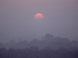 The Sun Rises over Wuhan, Capital of Hubei Province in Central China Photographic Print by Kenneth Ginn