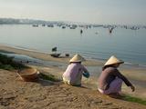 Fishermen Overlook the Fishing Fleet in the Harbor, Mui Ne, Vietnam Photographic Print by Kris Leboutillier