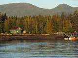 Fishing Boat and Cottage on the Shores of East Tongass Narrows Photographic Print by Steve And Donna O'Meara