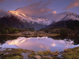 Key Summit and Reflection, Routeburn Track, World Heritage Site, Fiordland Nat'l Park, New Zealand Photographic Print by Colin Monteath/Minden Pictures