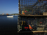 Lobster Traps and Fishing Boats Photographic Print by Raul Touzon