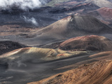 The Volcanic Landscape of Haleakala Crater in Haleakala National Park Fotografiskt tryck av Pete Ryan