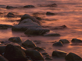 Morning Sun Reflecting in Rocky Water, Jasmund National Park, Ruegen, Germany Photographic Print by Christian Ziegler/Minden Pictures