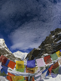 Prayer Flags on Gotcha La (5000m) Kangchenjunga, Sikkim Himalaya, India Photographic Print by Colin Monteath/Minden Pictures