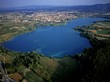 An Aerial View of Lake Banyoles Photographic Print by Tino Soriano