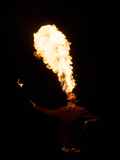 High School Student Practices Fire Breathing as Year 12 Project Photographie par Brooke Whatnall