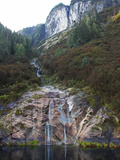 Glacier-Carved Granite Slab Waterfall on the Shores of Rudyerd Bay Photographic Print by Steve And Donna O'Meara