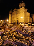 Sand Sculptures in Front of the Cathedral on the Day of the Dead Photographic Print by Raul Touzon