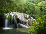 Waterfall, Formoso River, Bonito, Brazil Photographic Print by Luciano Candisani/Minden Pictures