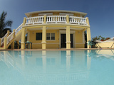 Carribean Vacation Rental House with Swimming Pool Photographic Print by  Greg